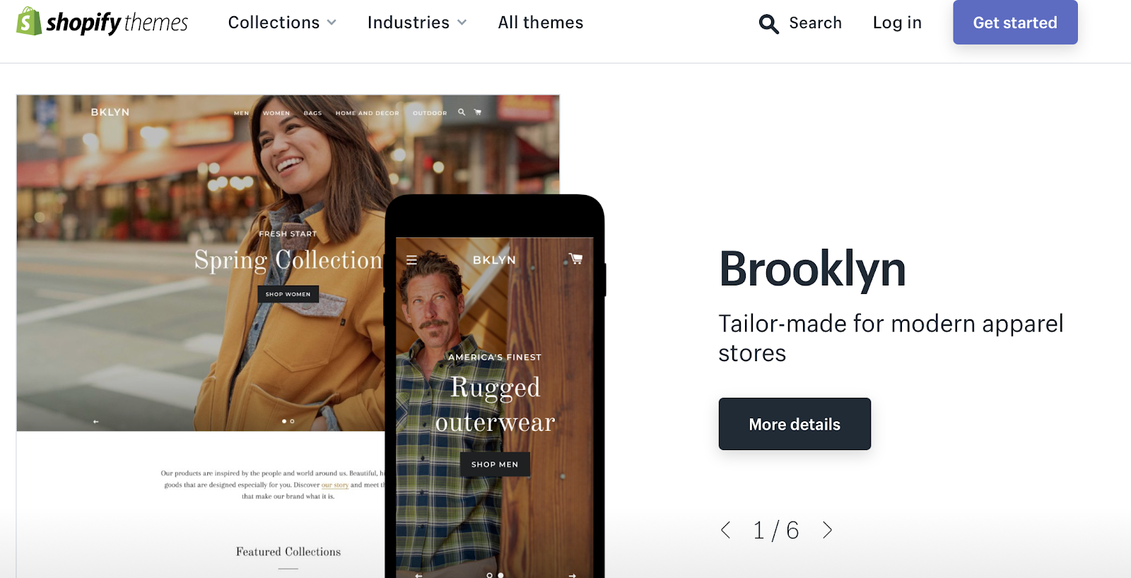 Screenshot of Brooklyn store theme by Shopify
