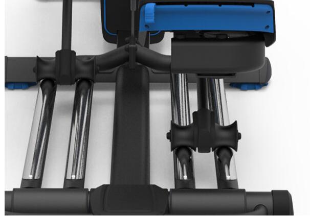 dual slide rail of Nautilus elliptical