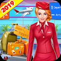 Cabin Crew Flight Attendant Girl Airport Adventure icon