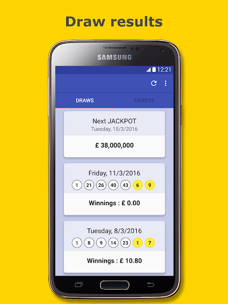 Results for Euromillions Android App Screenshot
