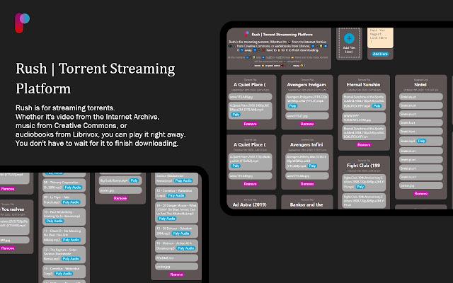Rush | Torrent Streaming Platform