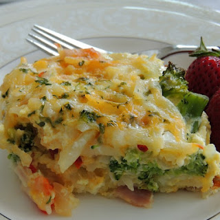 Potato, Broccoli & Pepper Jack Egg Casserole