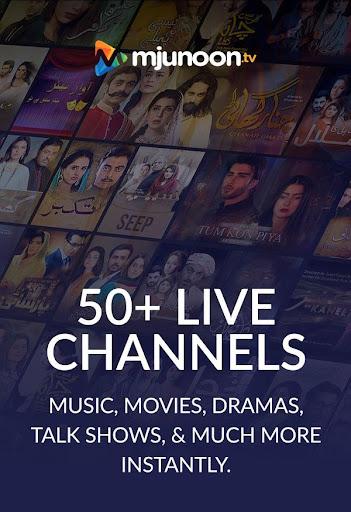 mjunoon.tv - Pak Live TV Channels, News and Dramas 1.4.1 screenshots 1