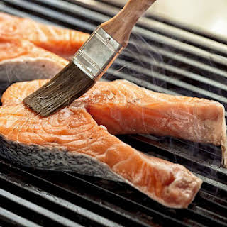 Thai Grilled Salmon With Flavorful Side Sauce.