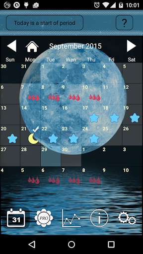 Women's Calendar(moon)  screenshots 1
