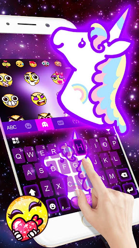 Galaxy Unicorn Keyboard Theme for PC