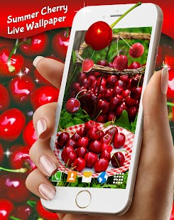 Summer Cherry Live Wallpaper - náhled