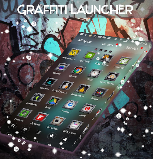 Graffiti Launcher Theme