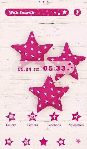 壁紙無料-Pink star-かわいいきせかえ・アイコン