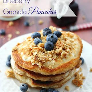 Blueberry Granola Pancakes