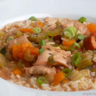 Weight Watcher's Friendly Chicken & Sausage Gumbo.