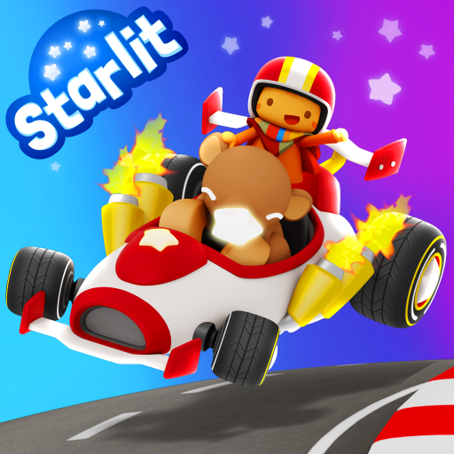 Starlit On Wheels: Super Kart Icon