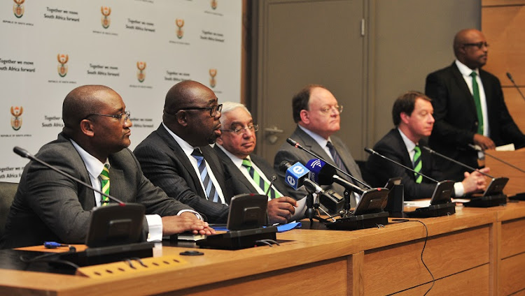 Thembelani Nxesi (South Africa Minister of Sport) chats to media during the 2023 Rugby World Cup announcement at Parliament in Cape Town on 31 October 2017.