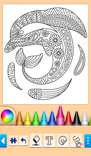 Dolphin and fish coloring book 14.0.4 screenshots 7