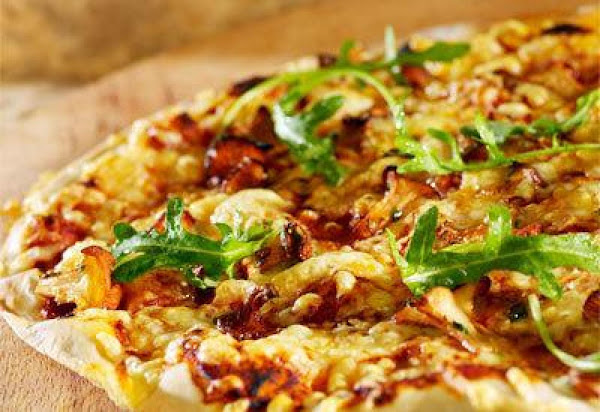 Pizza With Jarlsberg And Mushrooms Recipe