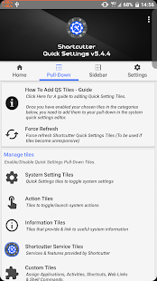 Shortcutter - Quick Settings?, Sidebar & Shortcuts Screenshot