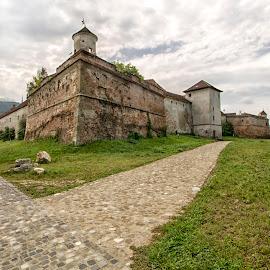At the castle by Panait Sorin - Buildings & Architecture Public & Historical ( green, castle, city, paths, heaven )