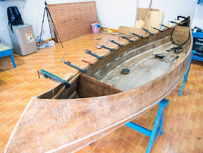 """Photo: with these """"straight"""" gunwales, the decks would be sunken down a bit"""
