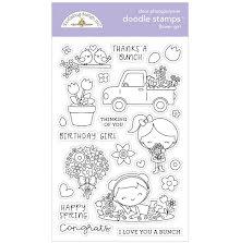 Doodlebug Clear Doodle Stamps - Flower Girl