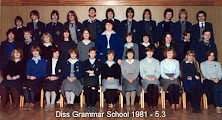 Photo: Diss Grammar School 1981 - Form 5.3 DGS Assembly Hall (Thanks - Mark Robinson)