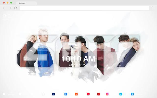 GOT7 New Tab Page HD Pop Stars Theme
