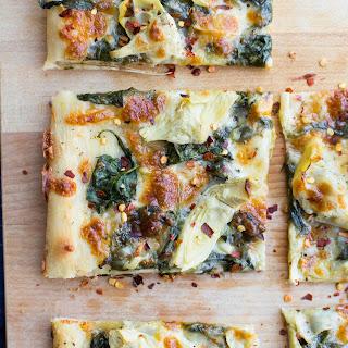 Spinach & Artichoke Sheet Pan Pizza.