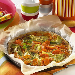Leek and Carrot Pizza