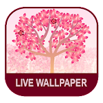 Falling Flowers Red - Live Wallpaper Icon