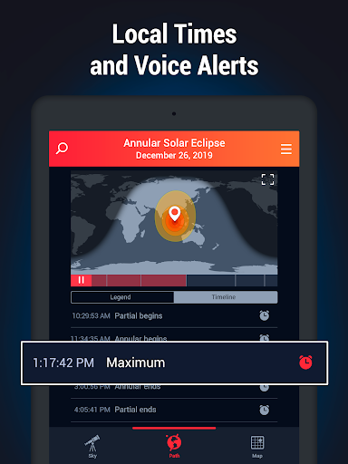 Screenshot for Eclipse Guide - Solar & Lunar Eclipses Timer 2019 in United States Play Store