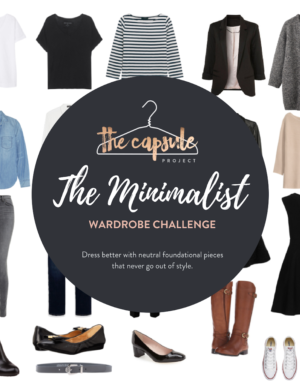 Get a detailed checklist and guide to create your own Minimalist Wardrobe Challenge