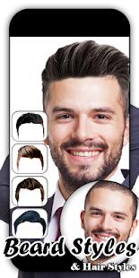 Man HairStyle and Beard Photo Editor - náhled