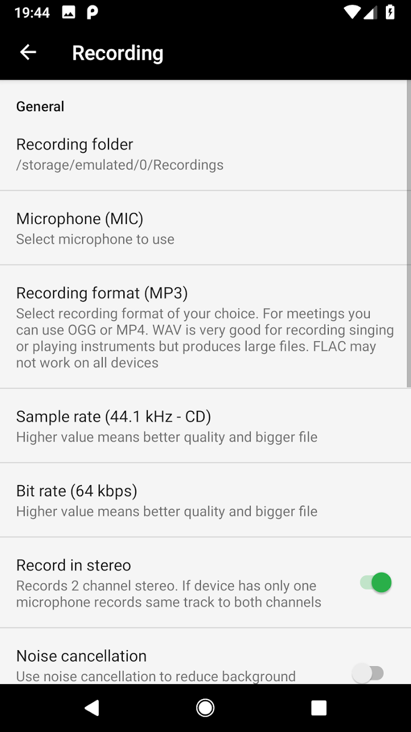 MP3 Voice and Audio Recorder - ASR  (Ad free) Screenshot 7