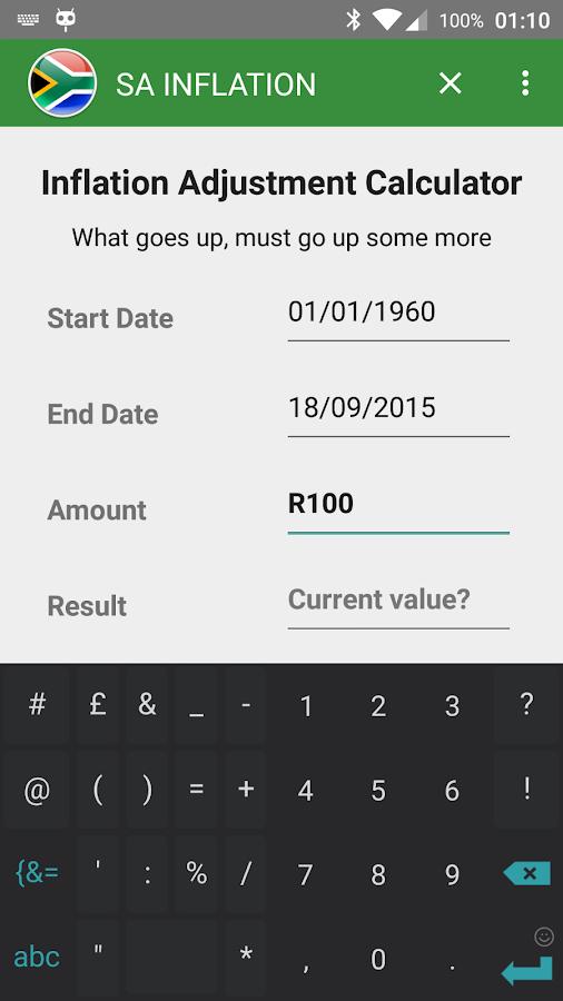 sa inflation calculator