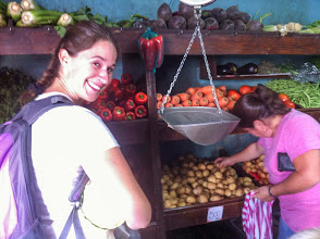 Photo: Running our first errands at the local markets.