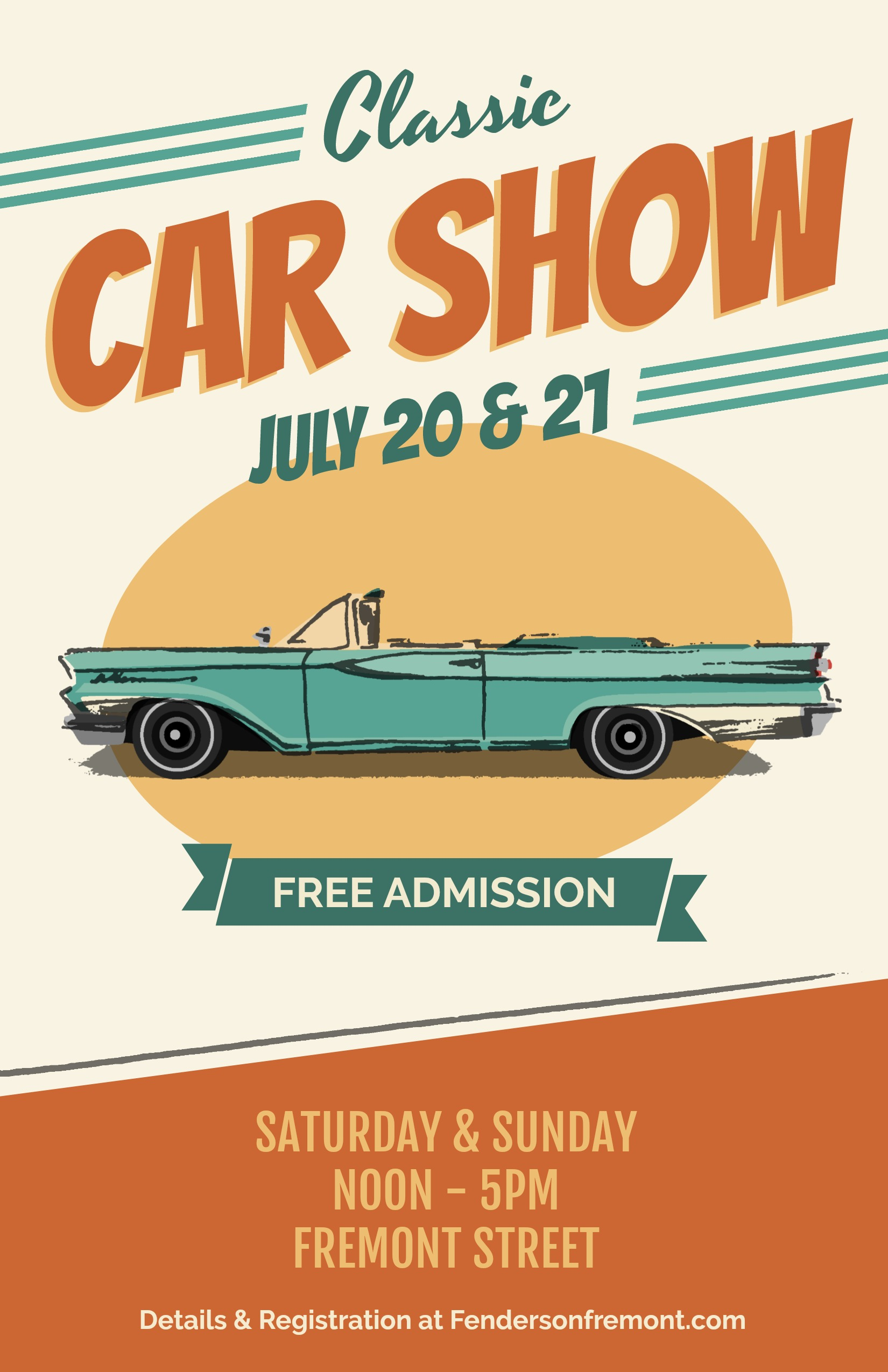 Classy Car Show PicMonkey - Classic car show poster template