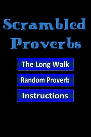 Scrambled Proverbs