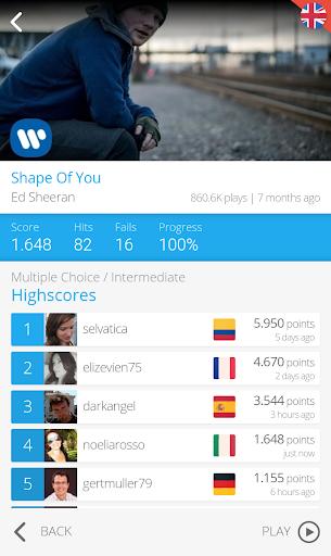 LyricsTraining - Learn English, Spanish, French... 0.9.4 screenshots 8