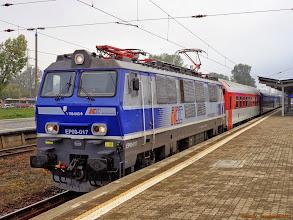 """Photo: EP09-017, EIC """"Praha"""" Warszawa Wschodnia - Praha hl.n. {Warszawa Zachodnia; 2013-09-28}"""