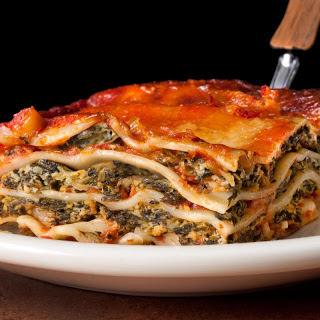 Easy Spinach Lasagna.