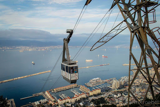 Visitors to Gibraltar can take the cable car to the Top of the Rock.