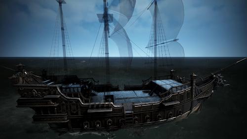 重 帆船 砂漠 黒い