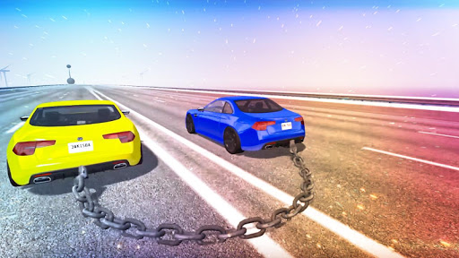 Chained Cars Against Ramp 3D  captures d'u00e9cran 2