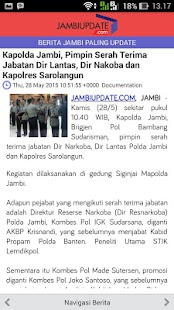 Jambi Update- gambar mini screenshot