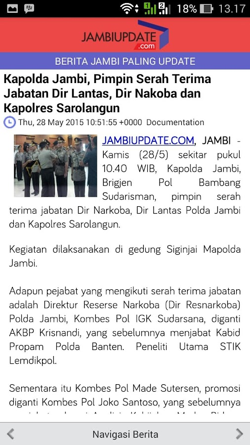 Jambi Update- screenshot