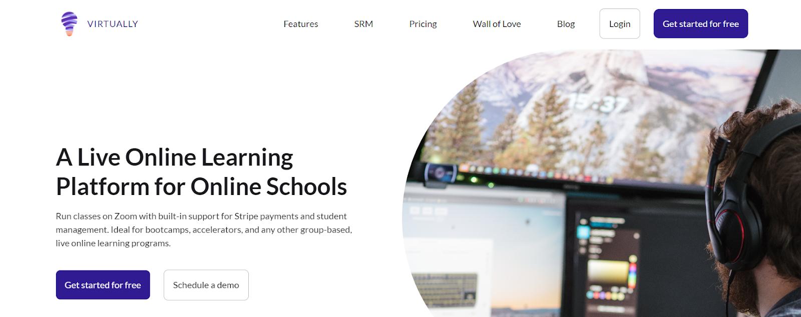 Screenshot of Virtually - Cohort Based Course Platform