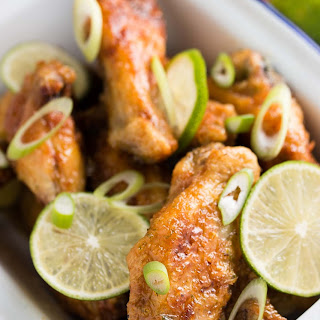 Honey Lime Crispy Chicken Wings.