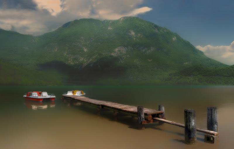 Pedalò sul lago di Moreno re