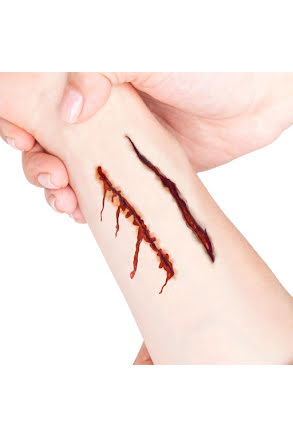 Tatuering sår, dubbla skärsår
