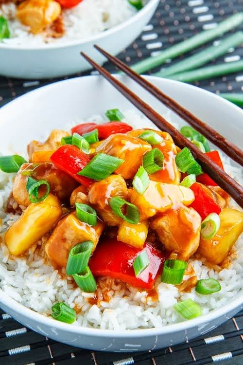 """Sweet and Sour Chicken """"This recipe is as easy to make as..."""