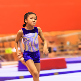 Tryouts by Ray Shiu - Sports & Fitness Other Sports ( jumping, sport, vault, run, running, young, asian, compete, jump, girl, competion, gym, try out, gymnastics, active, runner, bani-bands, Bani Bands - RUNNERS Challenge )